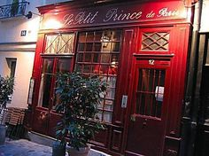 Le Petit Prince de Paris, fav restaurant, Paris, France