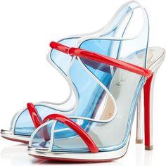 Katy Perry wearing Christian Louboutin Aqua Ronda Sandals.