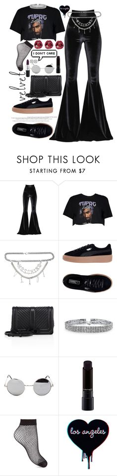 """""""How do you want it?  💋°"""" by jordan-mobley ❤ liked on Polyvore featuring Faith Connexion, Boohoo, Moschino, Puma, Rebecca Minkoff, Bling Jewelry, MAC Cosmetics, Retrò, Miss Selfridge and Diana M. Jewels"""