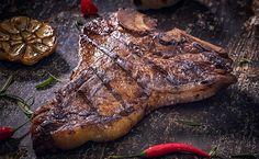 9 receitas de bisteca assada fáceis de fazer e deliciosas de comer Steak, Foods, Blog, Baked Pork, Chicken, Tasty Food Recipes, Healthy Recipes, Meals, Recipes