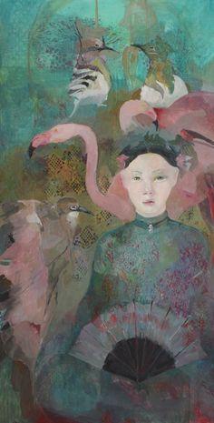 Huile sur toile 80 x 40 cm 2015 Jade FRANÇOISE DE FELICE