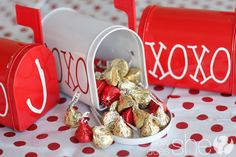 Countdown to Valentine's Day!  {Found these little mailboxes in Target's clearance bin...starting to get them ready now! Yay!}