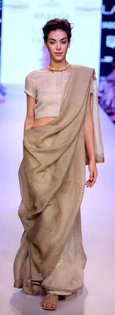 Very #Eco #chic #saree style #anavila