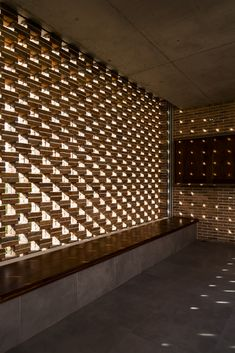 """""""The lights and shades, whose well-accorded strife gives all the strength and color of our life"""" - ALEXANDER POPE - (Phan Thiet House by Studio Happ) Brick Architecture, Concept Architecture, Interior Architecture, Brick Wall Decor, Brick In The Wall, Facade Design, Exterior Design, House Design, Bauhaus"""