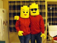 Lego couple The head:  Read more: http://www.craftster.org/forum/index.php?topic=364222.0#ixzz2gjb8tHio