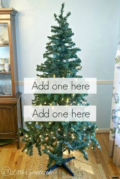 The best DIY projects & DIY ideas and tutorials: sewing, paper craft, DIY. Best Diy Crafts Ideas For Your Home MUST PIN trick for making a fake tree look fuller! Don't buy a new artificial Christmas tree! Cheap Christmas Trees, How To Make Christmas Tree, Xmas Tree, All Things Christmas, Winter Christmas, Christmas Holidays, Christmas Decorations, Christmas Ornaments, Holiday Decorating