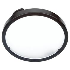 Sea Gull Lighting Ambiance 5 in. Black Recessed Disk Light Trim with Etched Glass Diffuser
