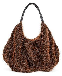 Glitzy Top Handle Tote Bag accented with Lightweight Frill