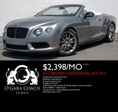 View O'Gara Coach San Diego's cars for sale in San Diego CA. We have a great selection of new and used cars, trucks and SUVs. Bentley Continental, Used Cars, Lease Specials, Cars For Sale, Convertible, Vehicles, Infinity Dress, Cars For Sell, Car