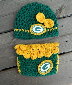 Handmade Crochet Green Bay Packers Hat and by LittleBirdBands