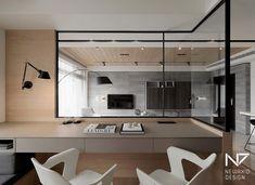 Interior surround window // home office Interior Exterior, Room Interior, Asian Interior, Home Office Design, House Design, Home Study Rooms, Study Room Design, Study Space, 3d Models