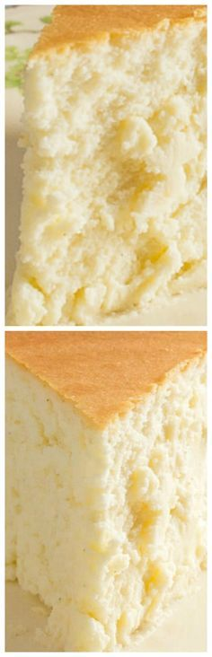 Tall and Creamy New York Cheesecake ~ An amazing tall and creamy cheesecake with no crust.