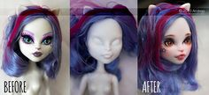 Monster High Catrine [before - after] by ***Andreja***, via Flickr