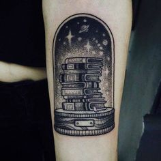 Quirky and Unique Literary Tattoo Perfect for Bookworms