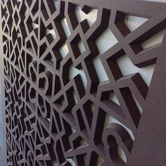 #fretwork #screen #valchromat #chocolate #brown #3d #chamfered #cncrouting #cncit #cncituk #restaurant #hotel #homedecor #interiordesign #decor #screens #wallpanels #texturedwall #openwork #jali #jalli #jaali #islamic #design #surface