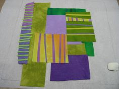 Melody Johnson's photo tutorial on how to make a stacked quilt