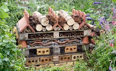 GardenersWorld Over winter hotel for bees and assorted insects. I think these are stunning