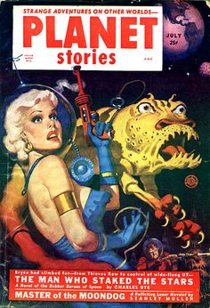 Good morning and welcome to Pulp Saturday! Off-world this morning, to the hardscrabble lunar mining colonies, where our hero Todd and companionable space babe Soleil fight for their stake with the. Fiction Novels, Pulp Fiction, Science Fiction, Planet Comics, Star Master, Strange Adventure, Pulp Magazine, Magazine Covers, Comic Book Covers
