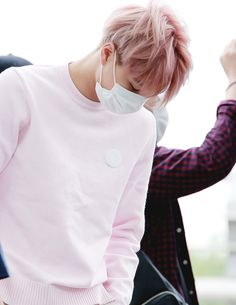 #kai looks rly cute in baby pink
