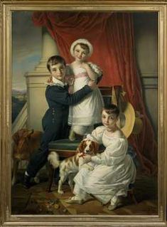 De kinderen van jonkheer Willem Jan Adriaan van Romondt (1798-1856) en Anne Caroline Magna van Hangest, barones d'Yvoy (1797-1876): jonkheer Otto (1822-1883), jonkvrouwe Suzanna Cornelia Frederika (1825-1899) en jonkvrouwe Wilhelmina Anna van Romondt (1827-1892). Cornelis Kruseman, 1830.