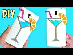 DIY LIQUID PHONE CASE   COCKTAIL GLASS - YouTube