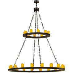 60 Inch W Loxley 28 Lt Two Tier Chandelier