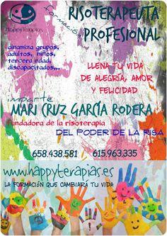 """https://www.facebook.com/happyterapias/posts/1031646223525474 ¡¡¡DESCUENTO DEL 50% DE LA TARIFA!!! ANTES DEL 10 DE FEBRERO. Formación """"RISOTERAPEUTA PROFESIONAL"""" del Poder de la RISA con Mari Cruz García Rodera (Fundadora de la profesión)"""