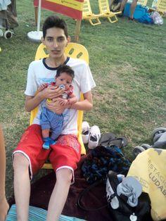 Yo con mi hermano en del Parque Indoamericano