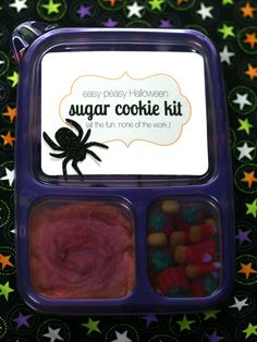 """Perfect for preschool Valentines party (with some changes to cookies and decorations, of course) My Sister's Suitcase: Halloween Sugar Cookie """"Kit"""""""