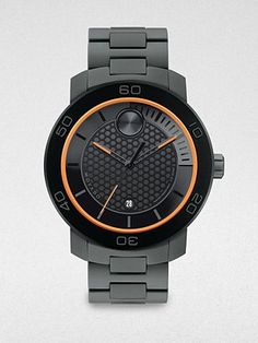 Black and orange watch