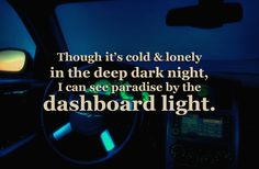 Paradise by the Dashboard Light