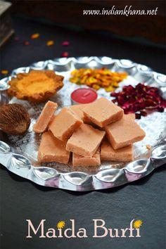 Maida Burfi or Maida Cake is another easy burfi recipe with minimal ingredients, perfect sweet for Diwali
