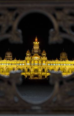 Mysore Palace - The Palace of Mysore is a historical palace in the city of Mysore in Karnataka, southern India. It is the official residence and seat of the Wodeyars — the Maharajas of Mysore, the former royal family of Mysore, who ruled the princely state of Mysore from 1399 to 1950.