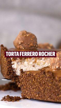 Easy Desserts, Delicious Desserts, Yummy Food, Baking Recipes, Snack Recipes, Dessert Recipes, Torta Ferrero Rocher, Food Crush, Sweet Recipes
