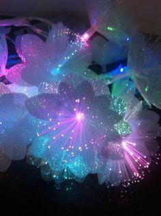 Stunning 20 Colour Changing Fibre Optic Flower String/Fairy Lights/Girls Bedroom | eBay Light Up Dresses, Teen Room Designs, Fairy Room, Light Girls, Light Garland, Diwali Decorations, Teen Girl Bedrooms, Fiber Optic, Beautiful Lights