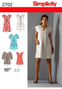 Womens or Miss Petite Dress Pattern 2702 SimplicityPatterns