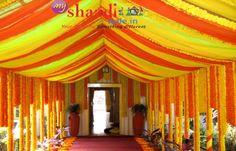 Best Marigold Theme Wedding Decoration  http://myshaadiwale.in/