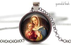 Mother Mary and Baby Jesus Necklace Your Choice of by FrenchHoney