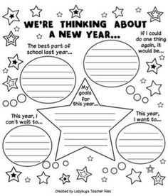 Childrens activity  - New Years Eve Inspiration. Fun to keep and reflect on down the track
