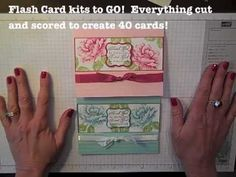 www.SimplySimpleStamping.com - Flash Card 2.0 Video - Stippled Blossom card by Connie Stewart