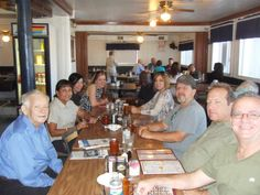 Breakfast with the family and local friends before screening — in Harlingen, Texas.