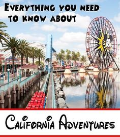 California Adventures - Everything you Need to Know about Planning your Trip for Spring Break. Great information about planning your day, info on rides, where to eat, where to go when the lines are long, best place for toddlers, and where to charge your phone if needed.