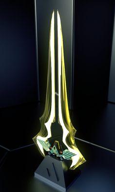 trixie with plasma sword Halo Sword, Halo Armor, Katana, Energy Sword, Lightsaber Design, Grand Admiral Thrawn, Halo Series, Halo Game, Ninja Weapons