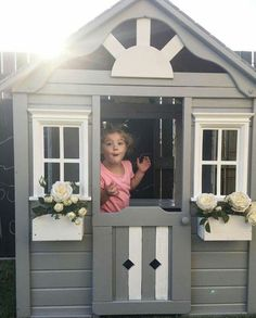 Kmart cubby Kids Backyard Playground, Backyard For Kids, Boys Playhouse, Playhouse Ideas, Home Design Decor, House Design, Kids Cubbies, Hobby House, Kids Play Area
