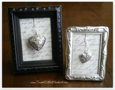 Framed Valentines Decor