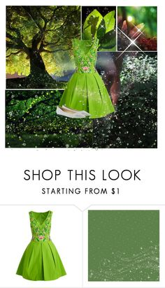 """""""Tinkerbell"""" by athena637 ❤ liked on Polyvore featuring Notte by Marchesa, Pixie, Jimmy Choo, tinkerbell and cartooncharecters"""