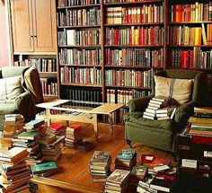 This is a library where the books dont just sit on the shelves, the books are read and enjoyed.
