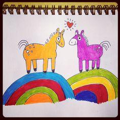 Karl and kHyal as ponies.  ©kHyal™ 2012