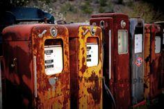 Antique Gas Pumps  Automotive Art  Old Gas Pumps  by turquoisemoon, $35.00