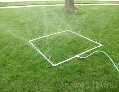 PVC sprinkler - wouldn't this be perfect for summer cookouts and the kids?